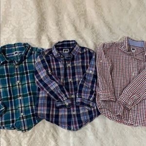 Lot of Janie and Jack boys button down shirts